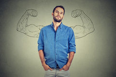 Uomo forte, giovane imprenditore sicuro di sé Immagine Stock