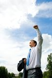 Uomo fortunato Immagine Stock Libera da Diritti