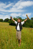 Uomo francese tipico felice Fotografie Stock Libere da Diritti