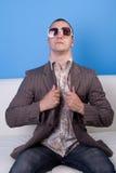 Uomo freddo Fotografie Stock Libere da Diritti