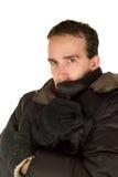 Uomo freddo Fotografia Stock
