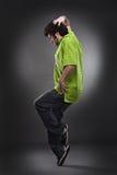 Uomo freddo del danzatore fotografie stock