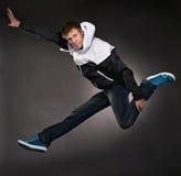 Uomo freddo del danzatore fotografie stock libere da diritti