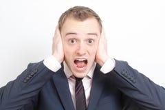 Uomo frustrato di affari fotografia stock libera da diritti
