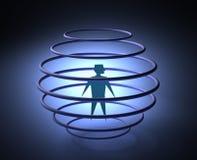 Uomo in gabbia Fotografia Stock