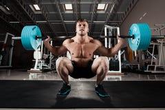 Uomo a ginnastica Fotografie Stock