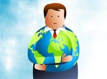 Uomo globale Immagini Stock