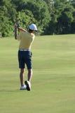 uomo golfing Fotografie Stock