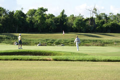 uomo golfing del carrello Fotografia Stock Libera da Diritti