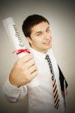 Uomo graduato Fotografia Stock Libera da Diritti
