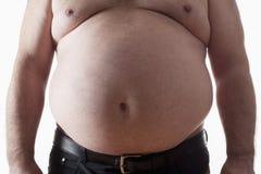 Uomo grasso Immagini Stock