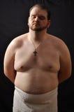 Uomo grasso fotografia stock libera da diritti