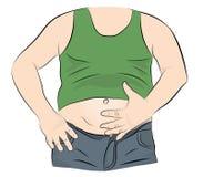 Uomo grasso con una grande pancia Illustrazione di vettore illustrazione vettoriale