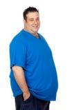 Uomo grasso felice Immagine Stock