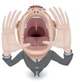 Uomo gridante Fotografia Stock Libera da Diritti