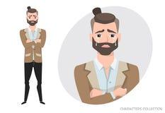 Uomo gridante Sensibilità negativa di espressione facciale di emozione Immagine Stock Libera da Diritti