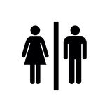Uomo, icona della donna, uomo, vettore dell'icona della donna, uomo, icona piana, uomo, segno dell'icona della donna, uomo, icona Immagini Stock Libere da Diritti