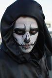 Uomo incappucciato nel carnevale di Rijeka Immagini Stock Libere da Diritti