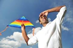 Uomo indiano asiatico con una visione Fotografia Stock