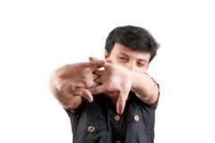 Uomo indiano che allunga le loro mani Fotografia Stock