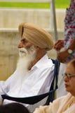 Uomo indiano con un turbante Fotografie Stock