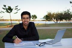 Uomo indiano di affari Fotografie Stock