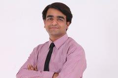 Uomo indiano di affari Fotografia Stock