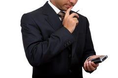 Uomo indiano di affari che usando pda (3) Fotografia Stock Libera da Diritti