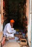 Uomo indiano di Senoir in vestito tradizionale Fotografia Stock Libera da Diritti