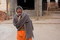 Uomo indiano povero in vetri Fotografia Stock Libera da Diritti