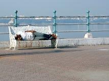 Uomo indiano senza casa Fotografia Stock Libera da Diritti