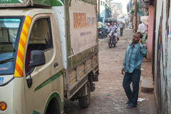 Uomo indiano sul telefono Fotografie Stock