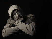 Uomo indiano triste fotografie stock