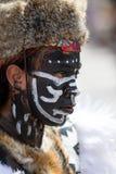 Uomo indigeno del Messico con il fronte dipinto immagini stock