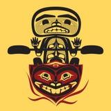 Uomo indigeno nordamericano del pescatore di vettore Fotografia Stock