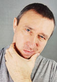 Uomo inospitale Unshaved Immagini Stock Libere da Diritti