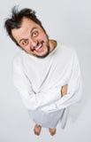 Uomo insano in camicia di forza Fotografie Stock