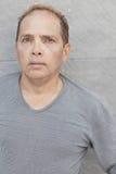 Uomo invecchiato centrale con una testa balding Fotografia Stock Libera da Diritti