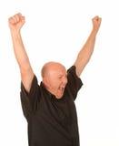 Uomo invecchiato centrale felice Fotografia Stock