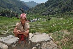 Uomo invecchiato indigeno fotografia stock libera da diritti