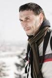 Uomo in inverno Fotografia Stock Libera da Diritti