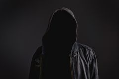Uomo irriconoscibile anonimo senza identità Fotografie Stock