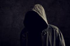 Uomo irriconoscibile anonimo senza identità Immagine Stock Libera da Diritti