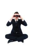 Uomo isolato di affari fotografia stock libera da diritti