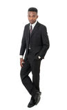 Uomo isolato tipo di affari del legame e del vestito fotografia stock