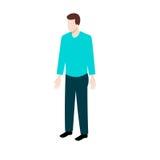 Uomo isometrico in abbigliamento casual Immagini Stock Libere da Diritti