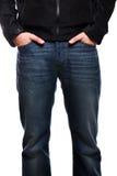 Uomo in jeans Fotografia Stock
