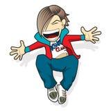 Uomo jumping2 del fumetto Fotografia Stock Libera da Diritti
