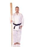 Uomo con un kai Fotografia Stock