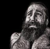 Uomo in lacrime fotografia stock